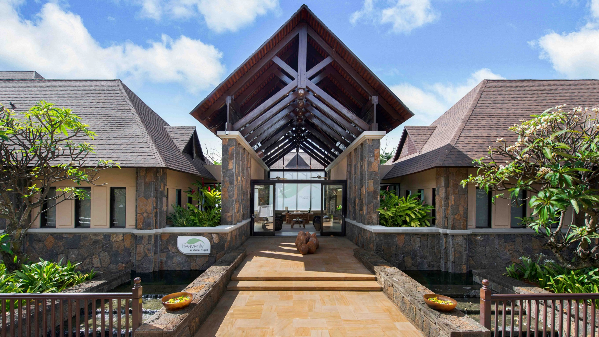Heavenly Spa by Westin entrance, Westin Turtle Bay Mauritius